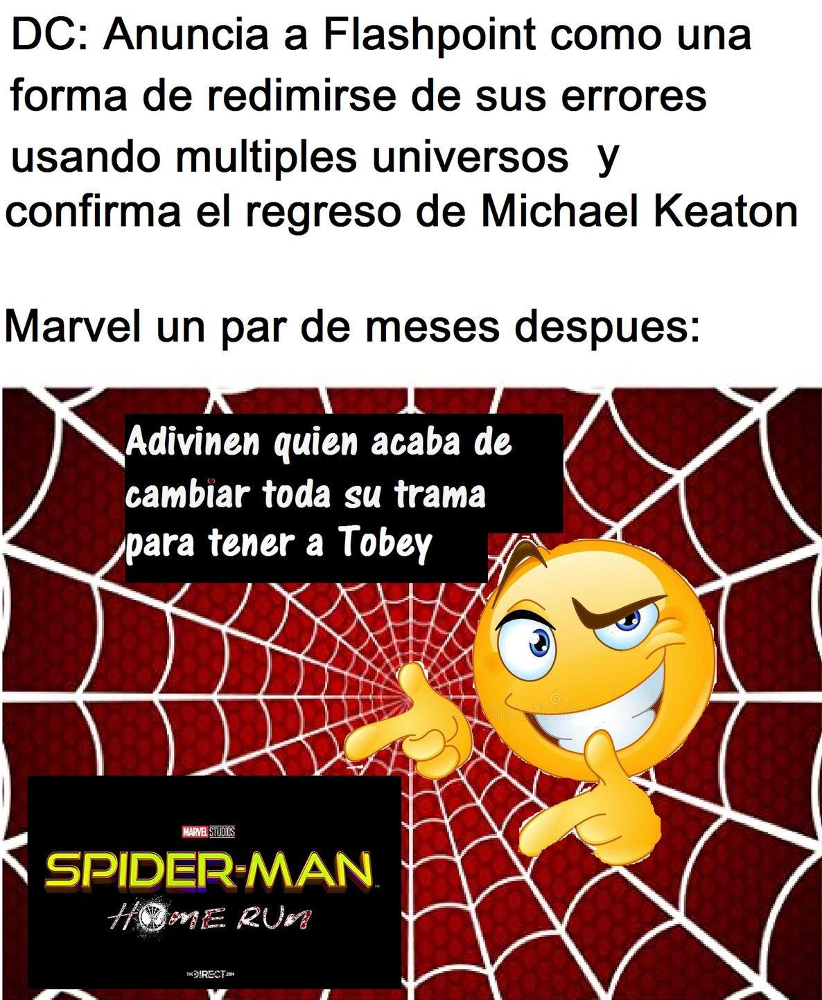 Contexto: La trama de Spider-Man 3 iba sobre el crecimiento de Peter como personaje y como tenia que salir de su zona de confort para hacerse un verdadero héroe, pero ahora será del Spider-Verse y Peter pasará a segundo plano - meme