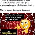 Contexto: La trama de Spider-Man 3 iba sobre el crecimiento de Peter como personaje y como tenia que salir de su zona de confort para hacerse un verdadero héroe, pero ahora será del Spider-Verse y Peter pasará a segundo plano
