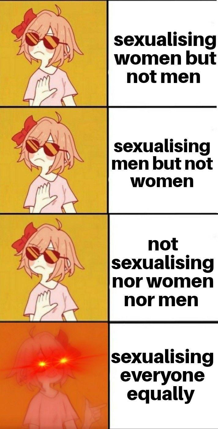 Say no to sexism - meme