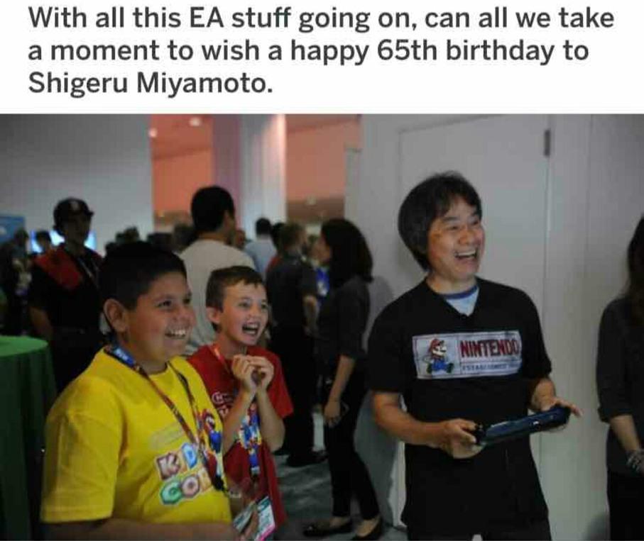 Happy birthday miyamoto - meme
