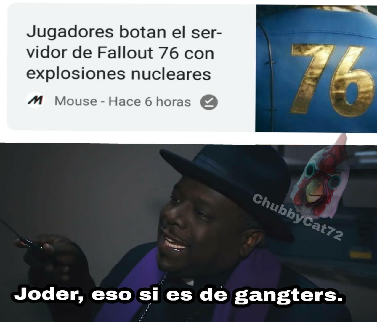Fallout 76 Online es la mensa volada - meme