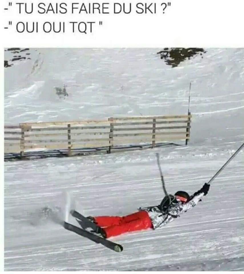 Le téléski - meme