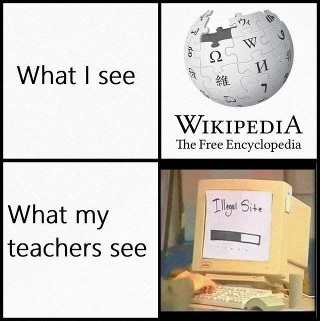 Wikipedia xd - meme