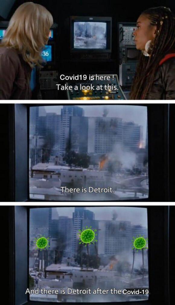 Aunque haya coronavirus detroid nunca cambia sus viejas costumbres - meme