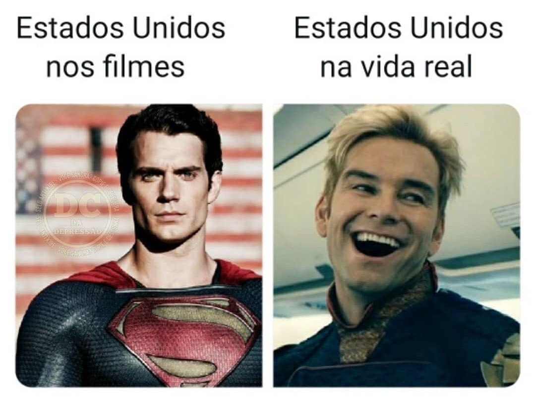 Superman com sangue nos olhos - meme