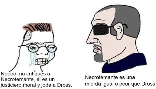 Fanboys del necrotemante - meme