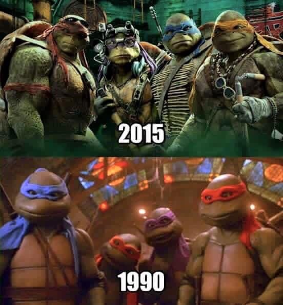 TMNT 1990 vs 2015 - meme