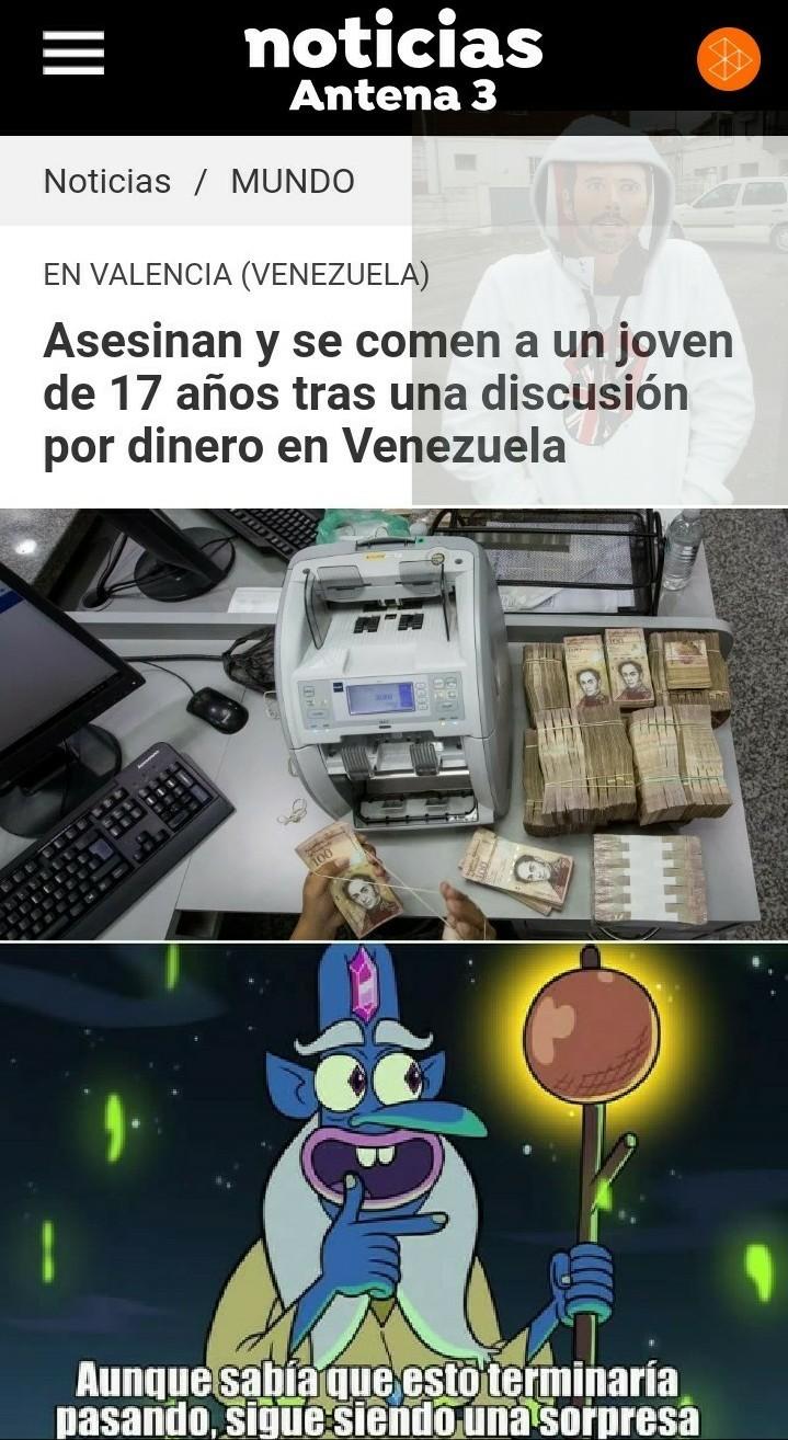 El titulo se comió un venezolano - meme