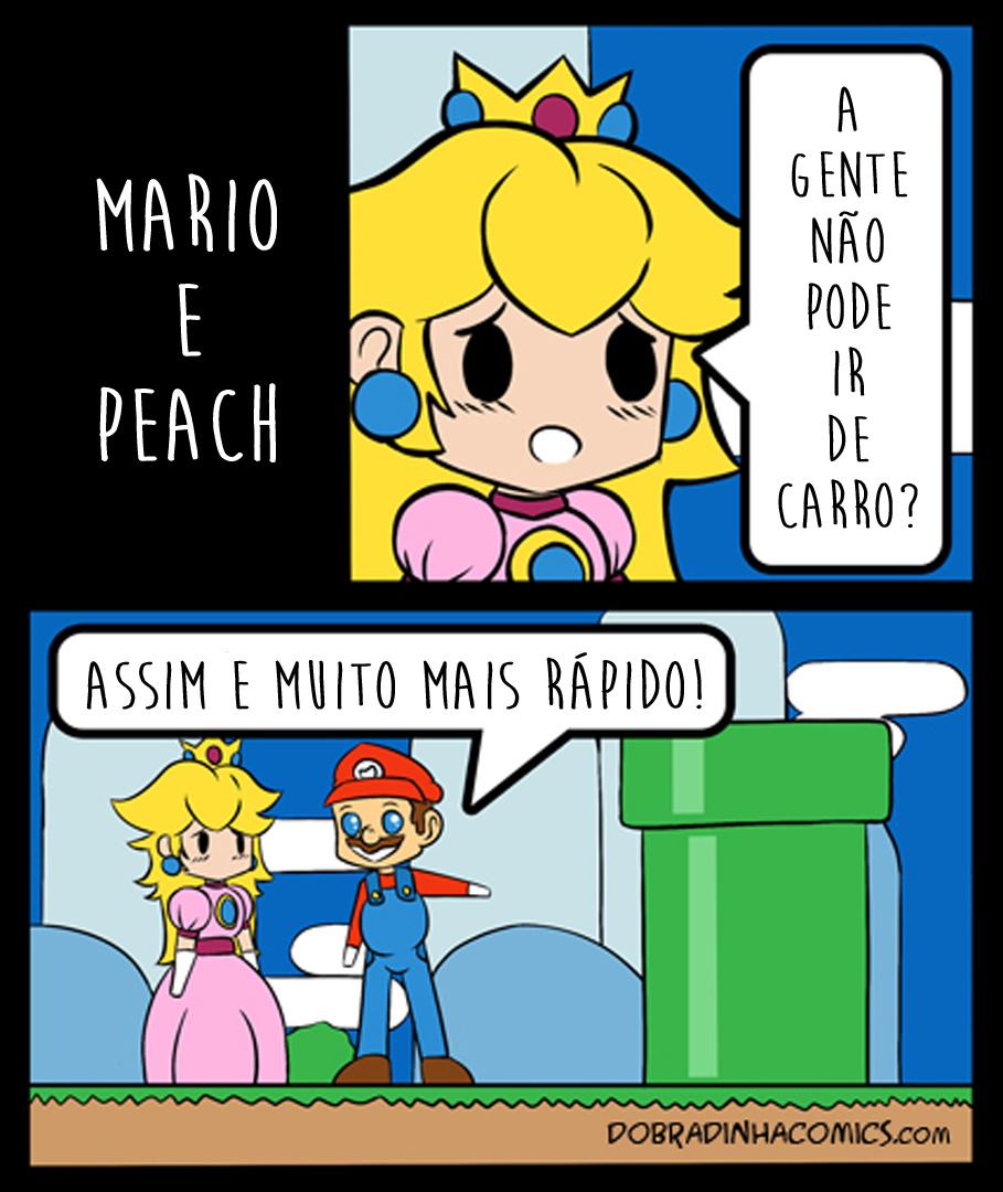 Mario e Peach - meme