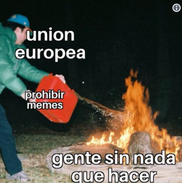 Seguro que la Unión Europea me lo borra :v - meme