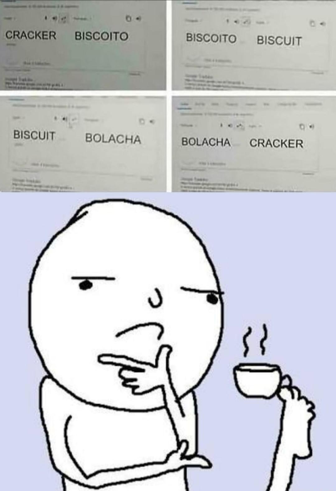 Biscoito ou bolacha - meme