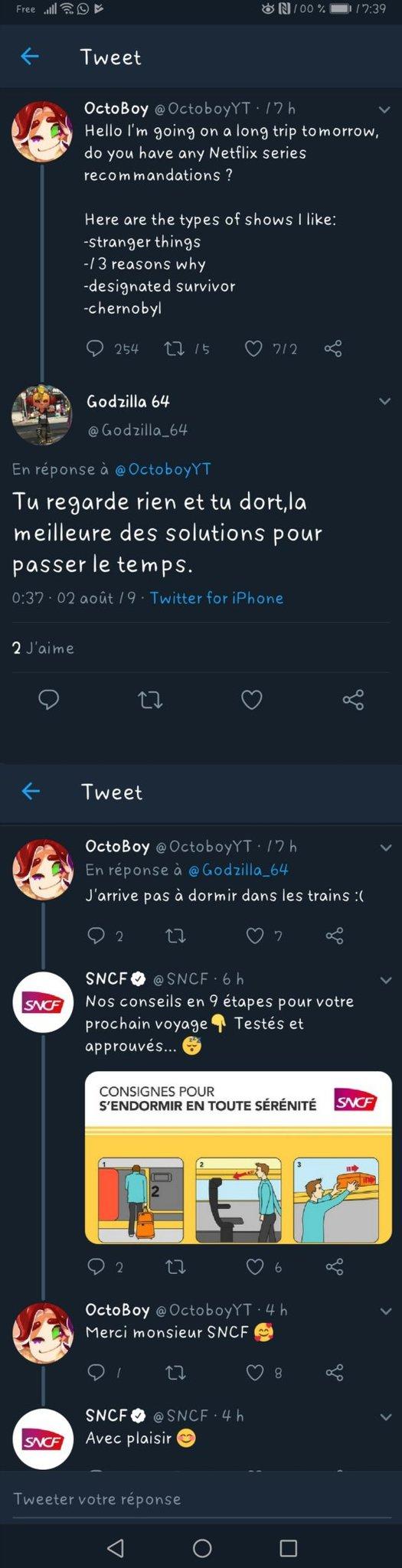 Comment bien dormir, par SNCF - meme