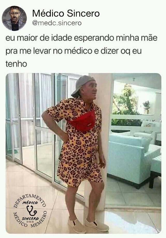 Esperar mãe pra consulta - meme médico