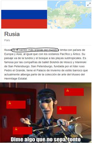 joder Rusia, que grande que eres - meme