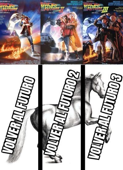 La mejor trilogía de viajes en el tiempo - meme