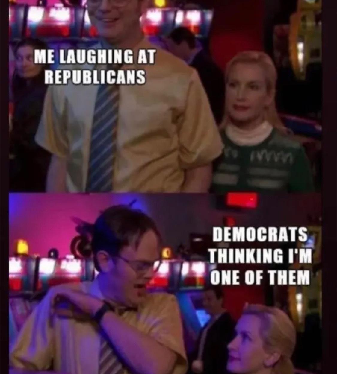 Libertarian or you're wrong - meme