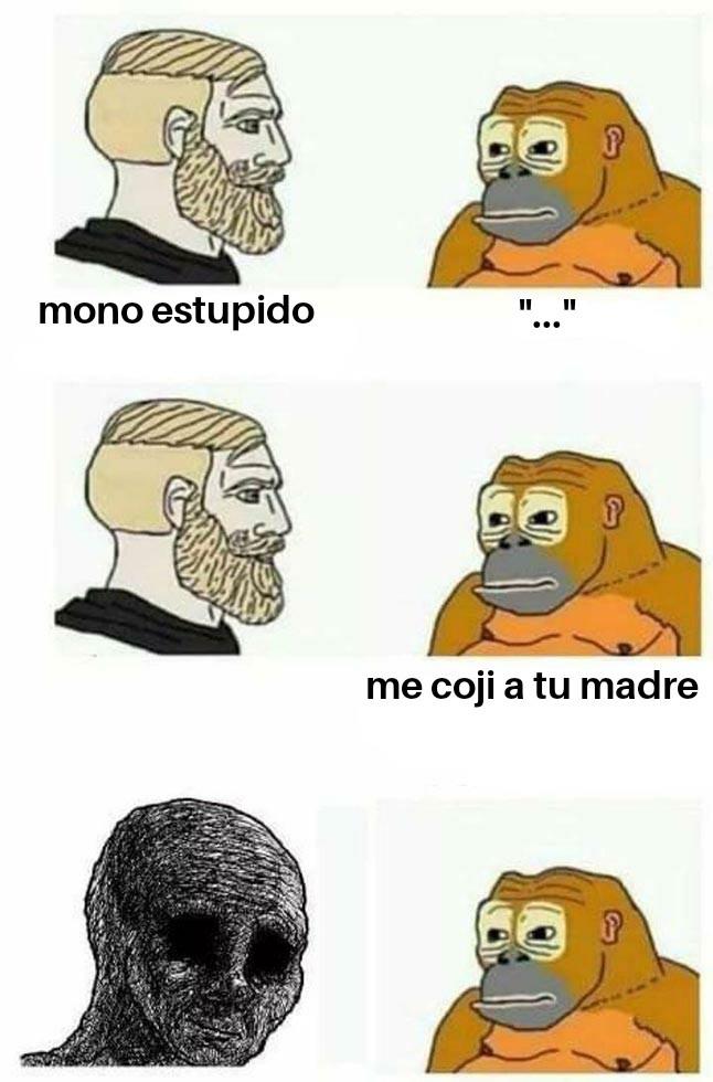 Chad vs mono - meme