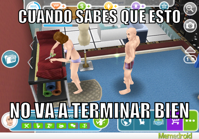 Johnny sims en sims freeplay - meme