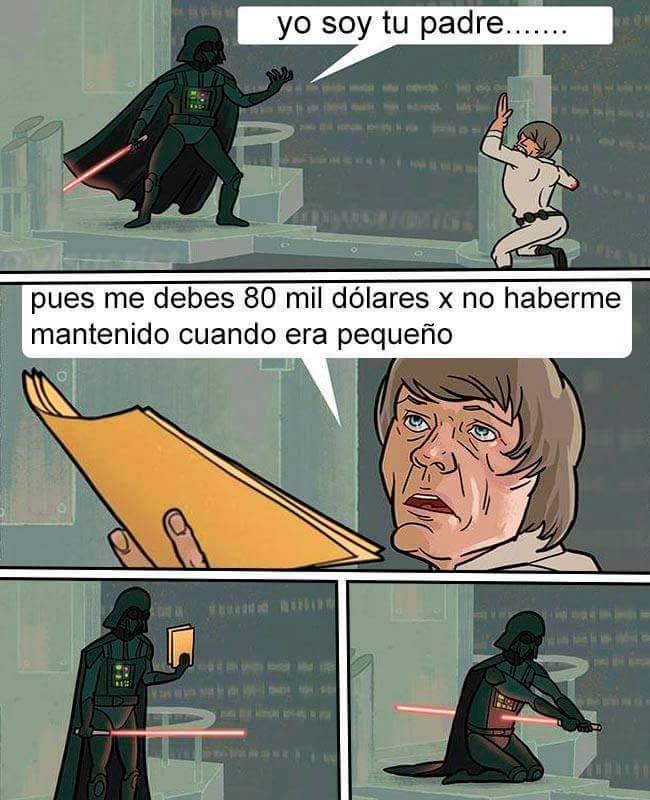 Me confundi, ben kenobi es tu padre byeee - meme