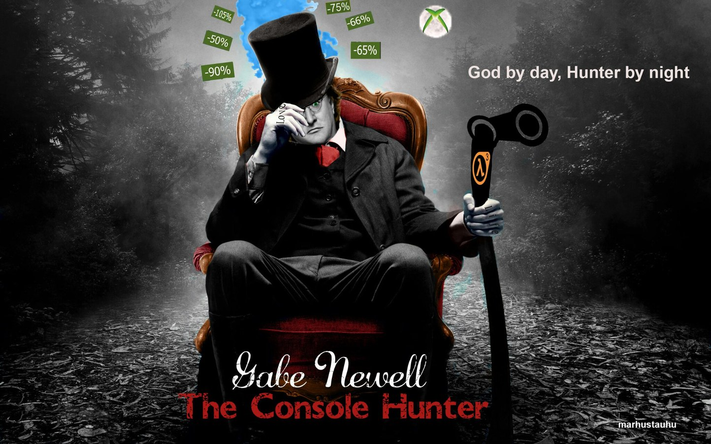 Gabe Newell the console hunter - meme