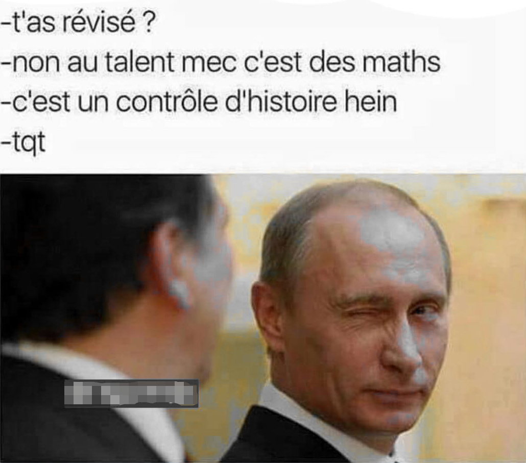Poutine, un grand hom.. Oups.. Dieu ! - meme