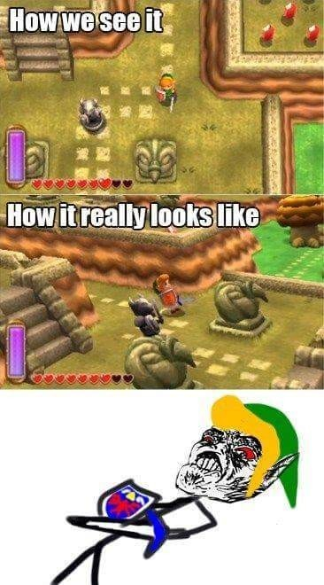 Link is a girl - meme