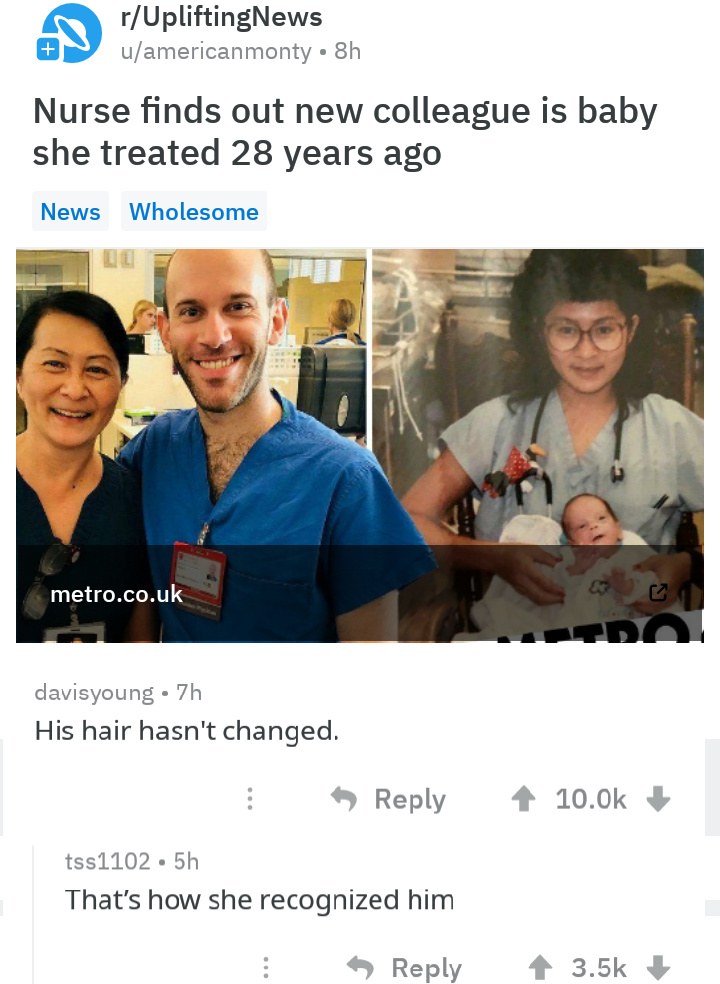 Wholesome, hairline, funny - meme