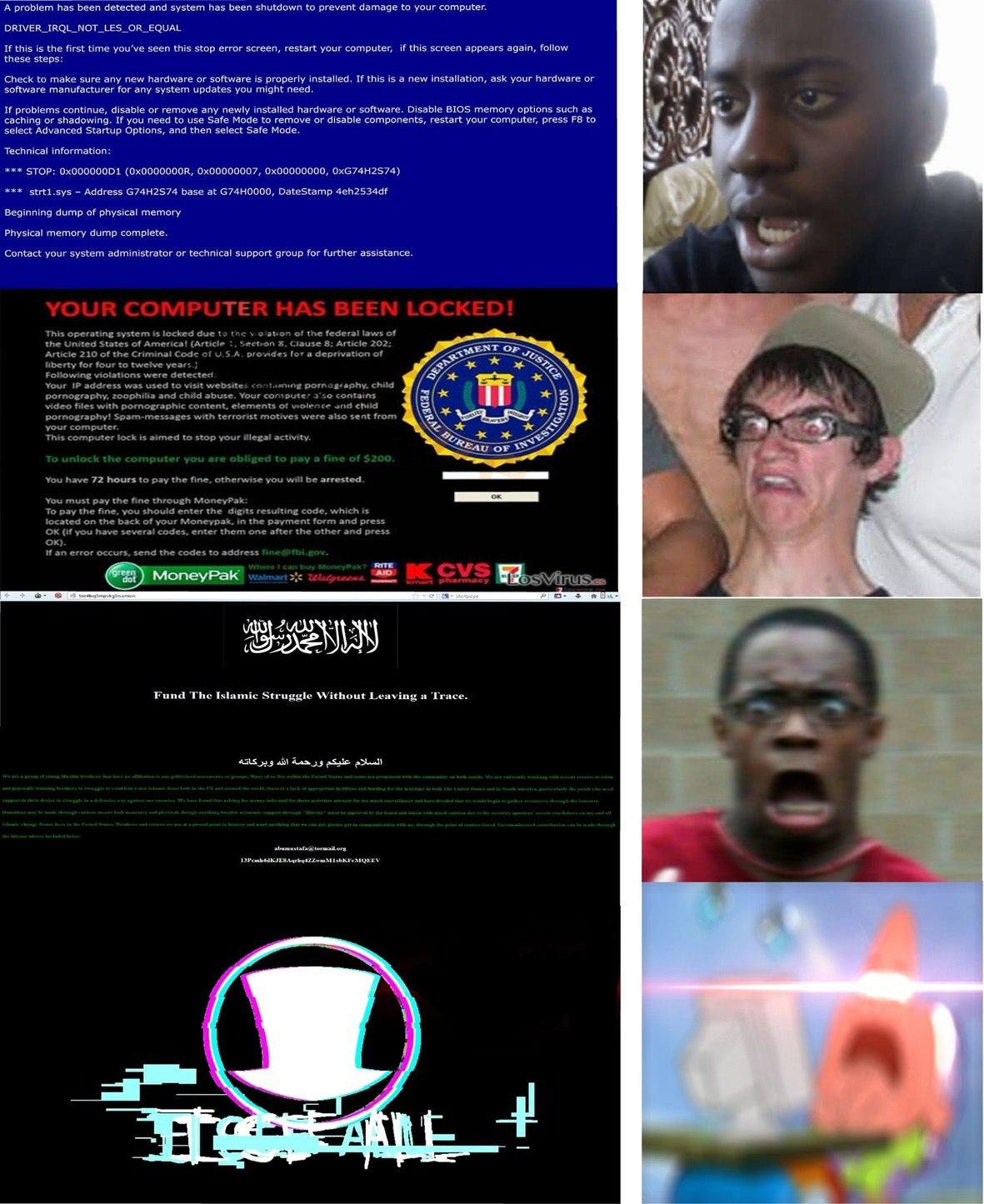 Existen pantallas aterradoras, y luego está el sombrerudo (Pta k oscuro) - meme