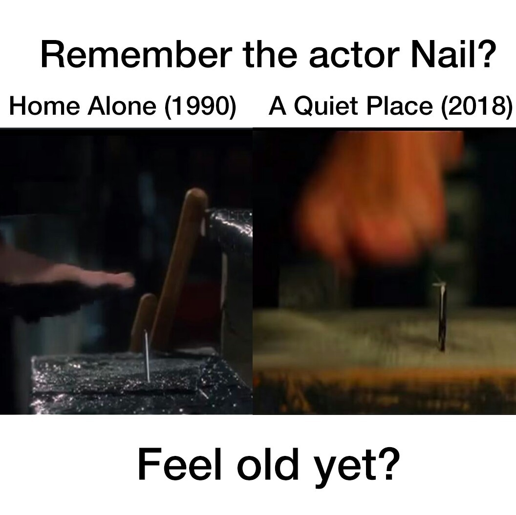 I'm glad nail is finding new work. Recognized him rewatching some Christmas movies. - meme