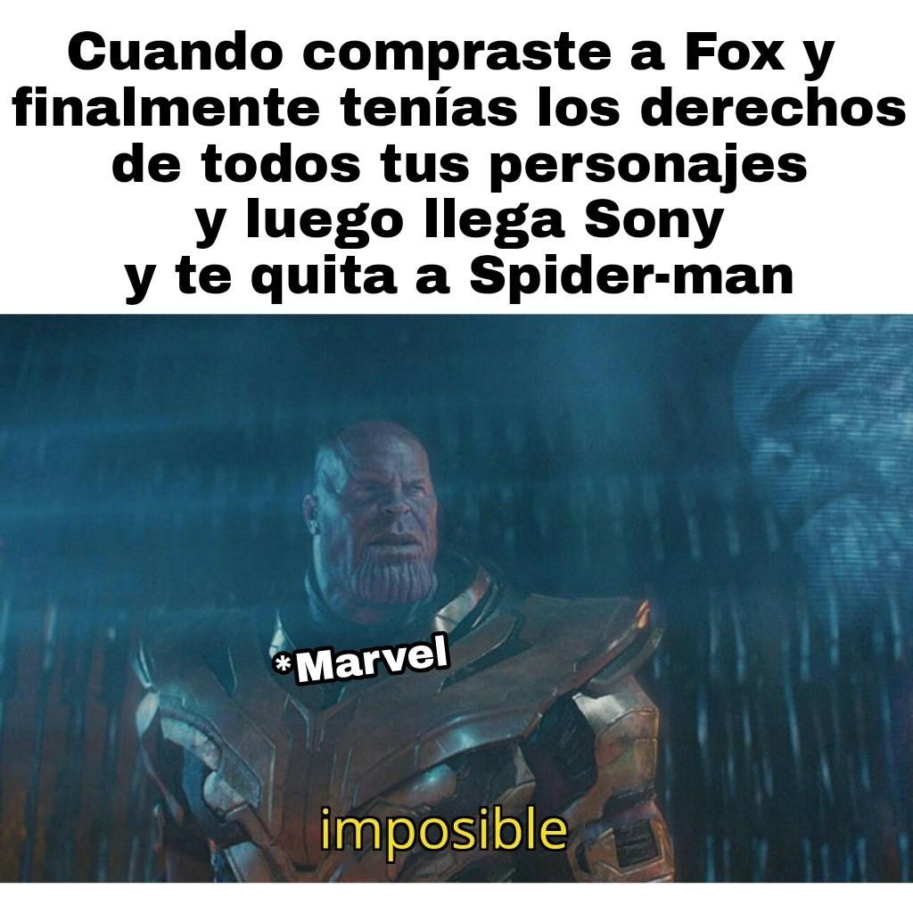 No me quiero ir señor Marvel - meme