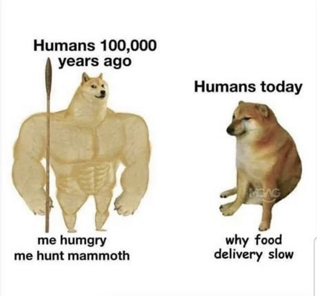 food delivery is slow though - meme
