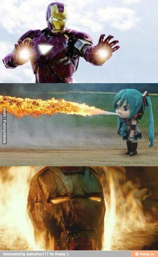 E morreu Iron man - meme