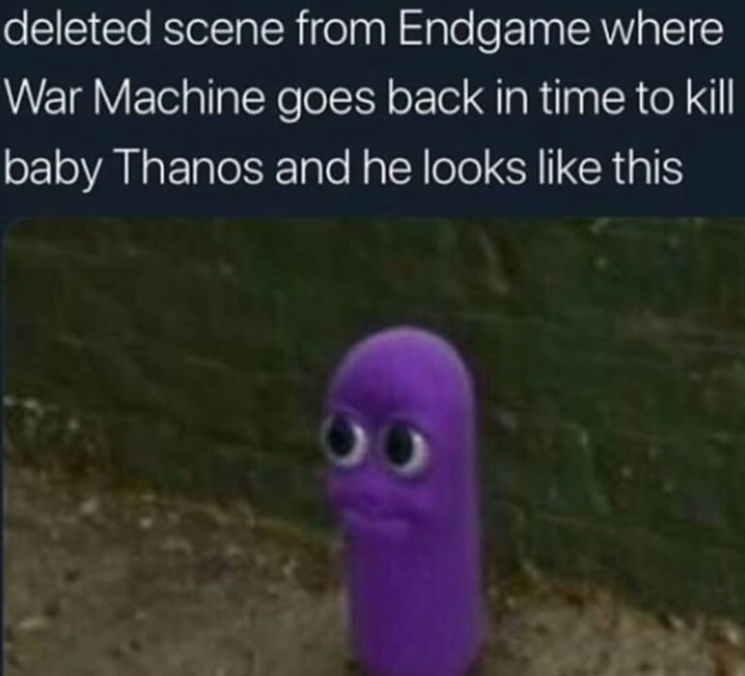 this is a deleted scene from endgame... - meme