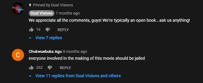 Comment under the trailer of Jurassic Galaxy (2018) - meme