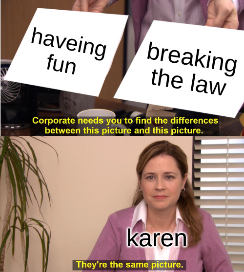 shut up karen - meme