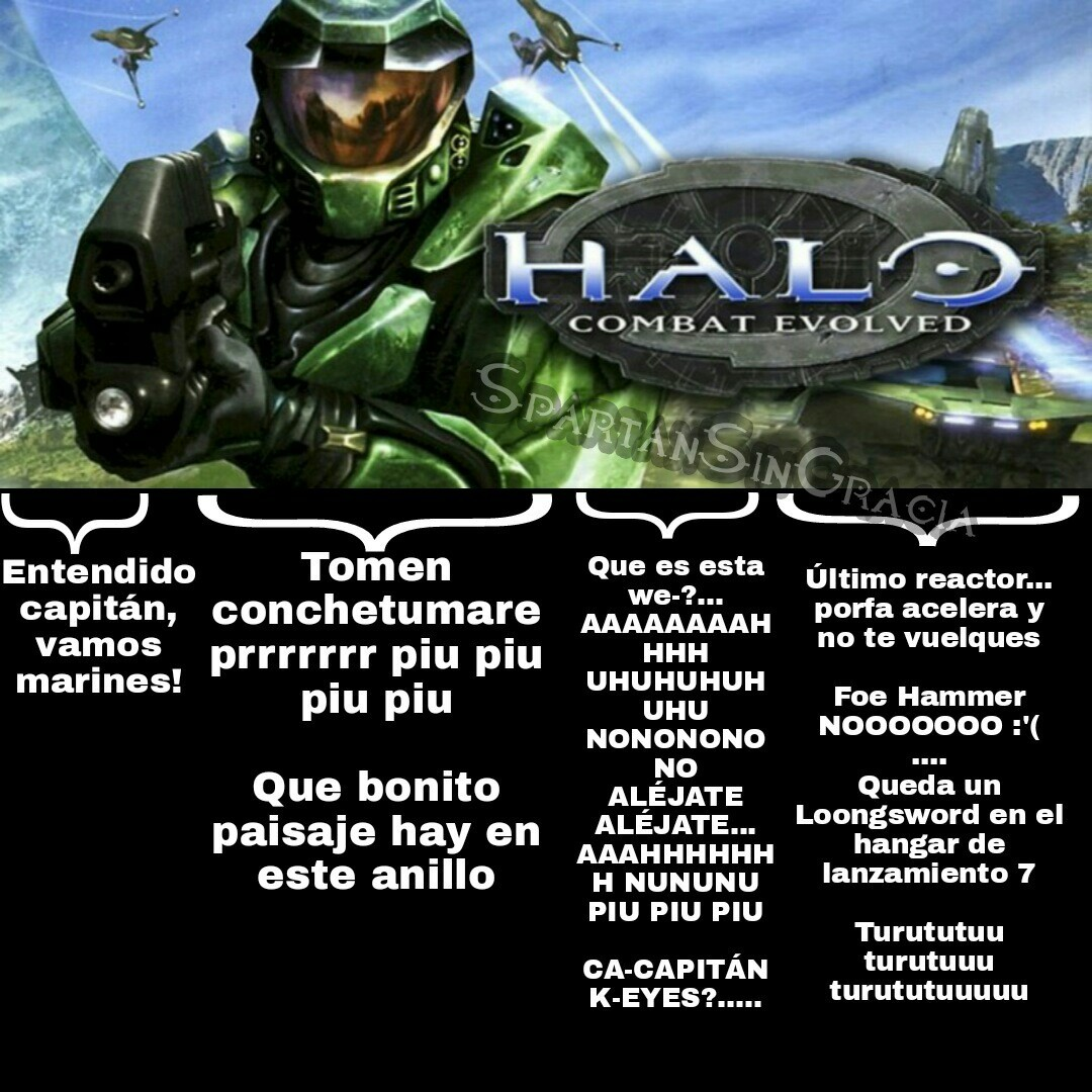 Halo: Combat Evolved en resumen. - meme