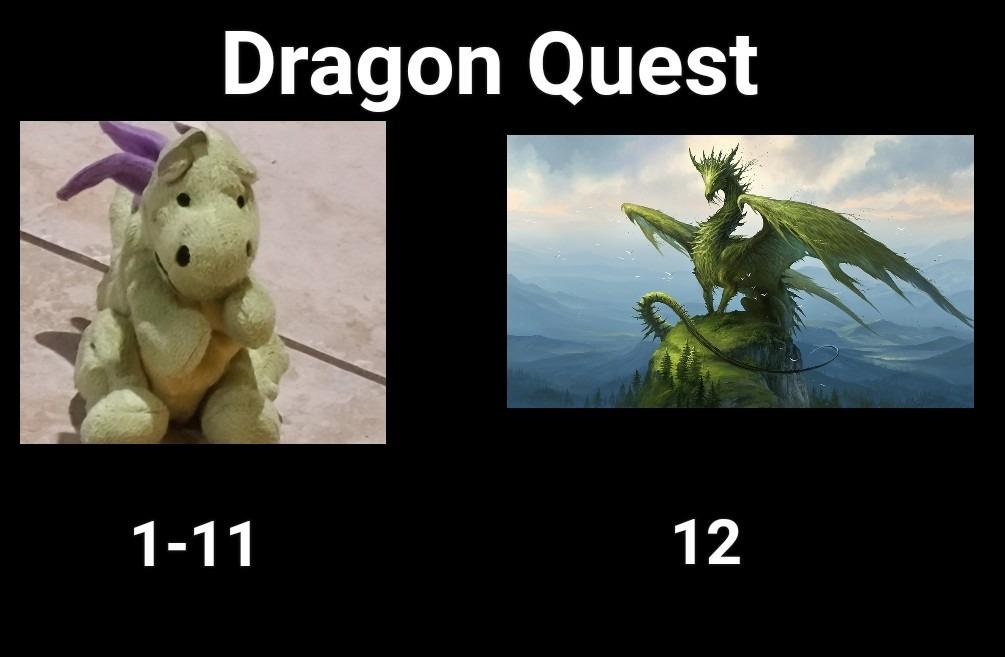 "Dragon Quest 12 for ""adults"" - meme"