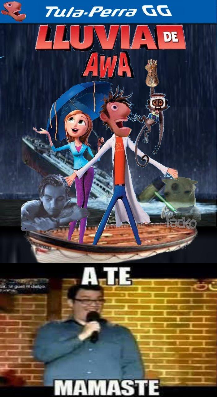 Lluvia de awa (no homo) - meme