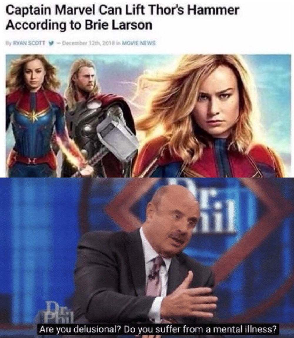 Marvel needs to muzzle her - meme