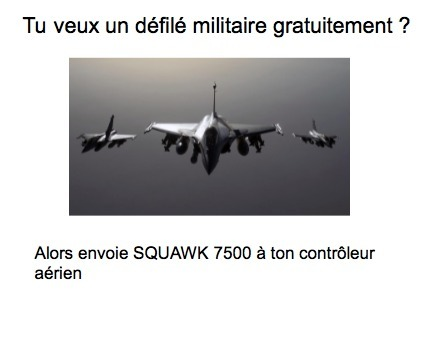 7500= Prise de l'avion par des terroristes - meme