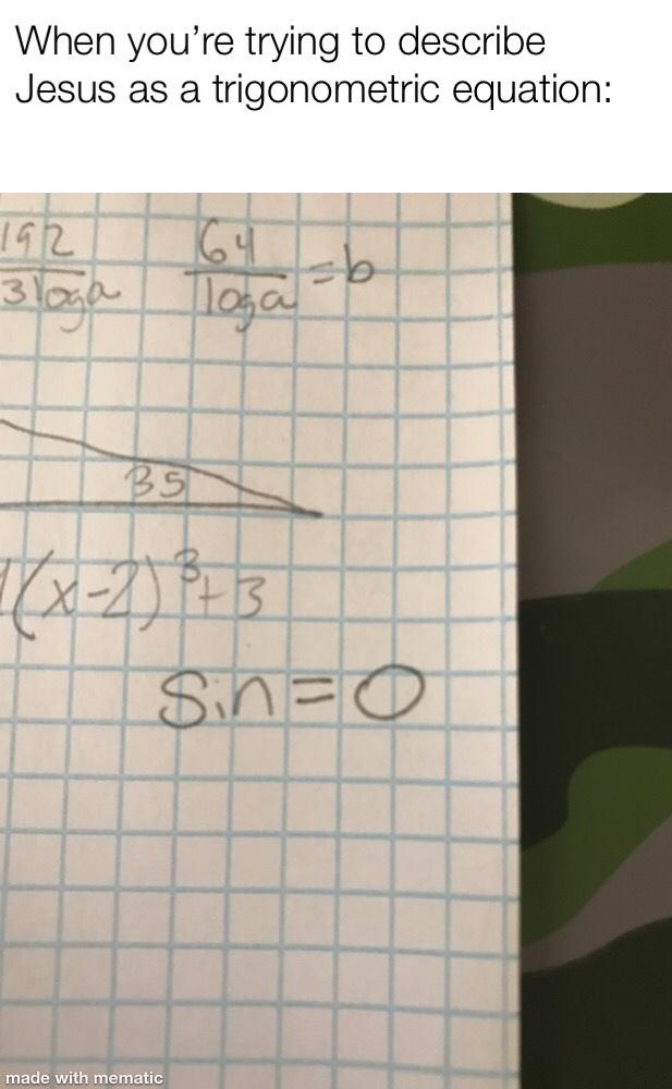 religious math - meme