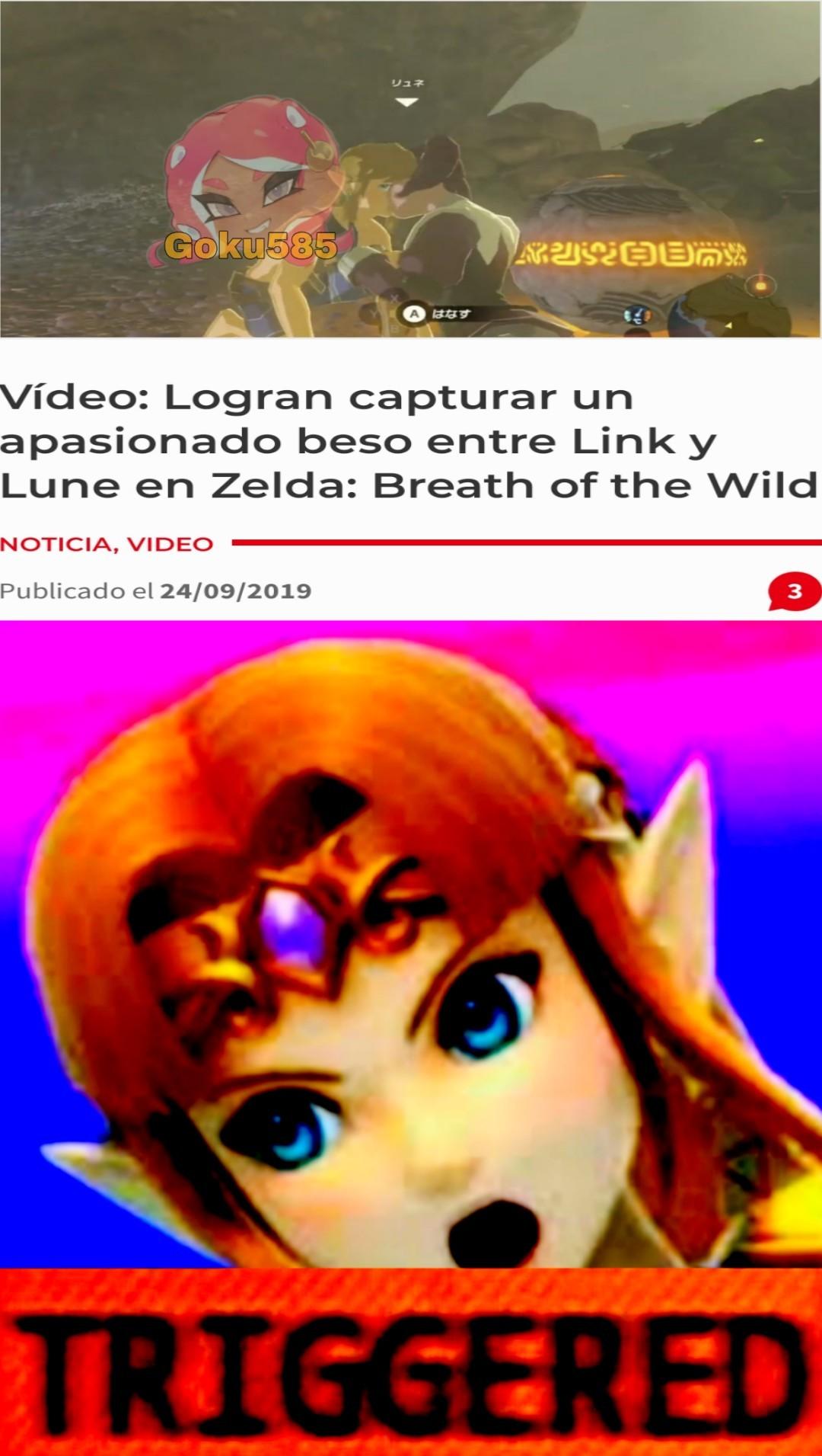 La leyenda de zelda: Link se culea un pez - meme