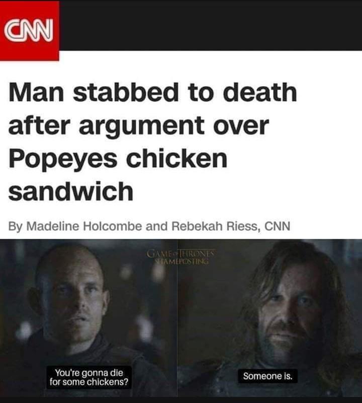 Popeyes really? - meme