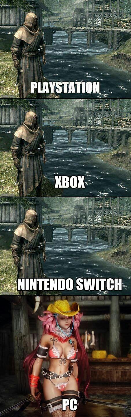 Hay skyrims moddeados y después este - meme