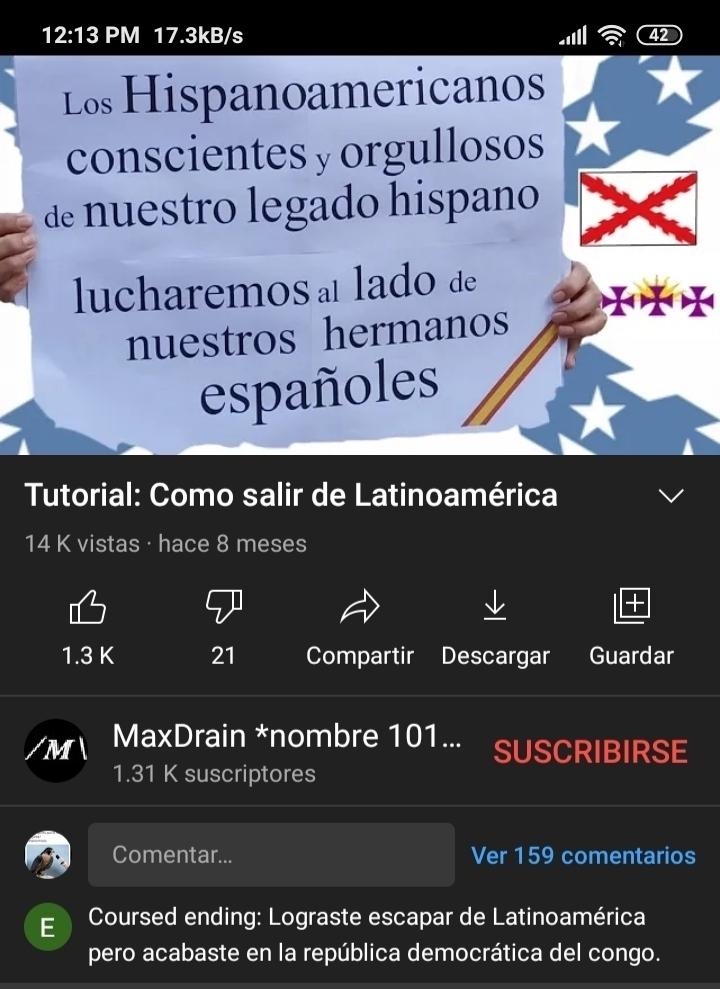 La respuesta es mamandosela a España - meme