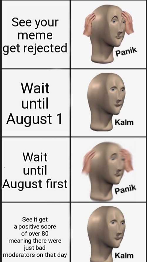 August first - meme