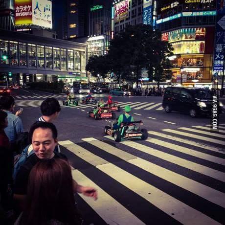 Mario kart in japan :) - meme