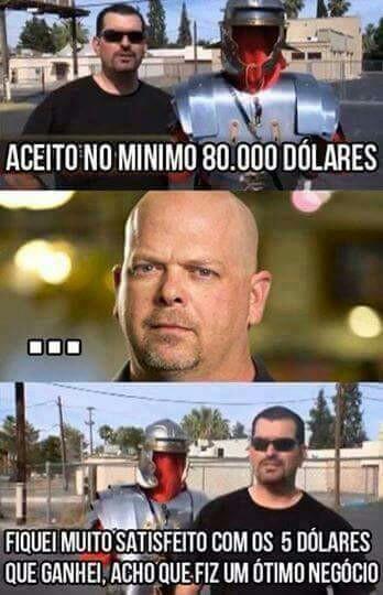 Rick barganhador - meme