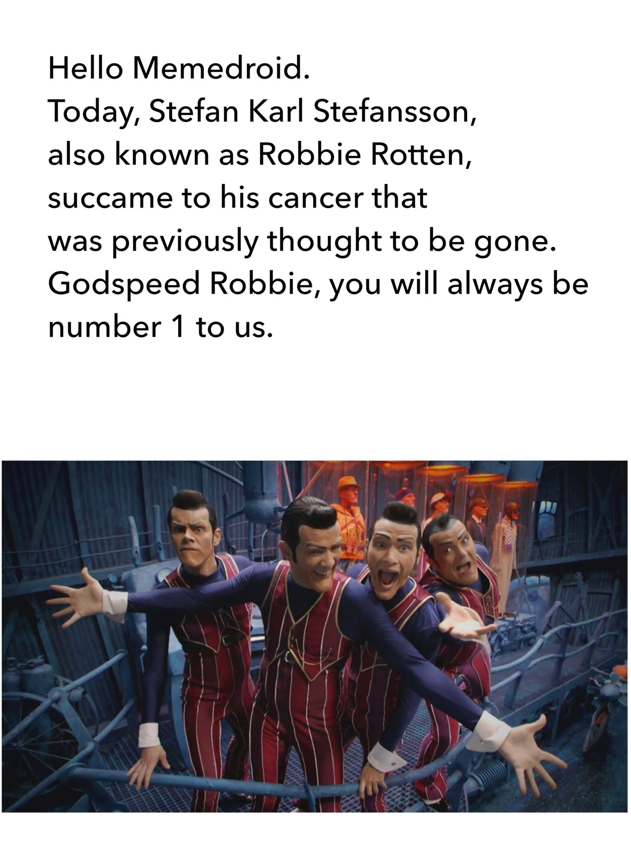 Rest in peace, Stefan - meme