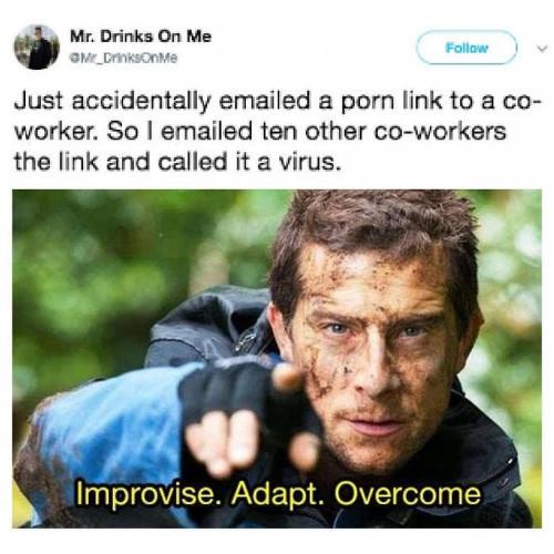 improvise. Adapt. Overcum - meme